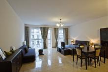 Apartament nr 6 - Pokój gościnny, salon, sofa, stolik, TV - gdańsk wynajem