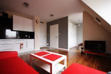 Apartament nr 10 - Pokój gościnny, salon, sofa, stolik